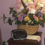 Silk Flower Gift Basket for Seniors