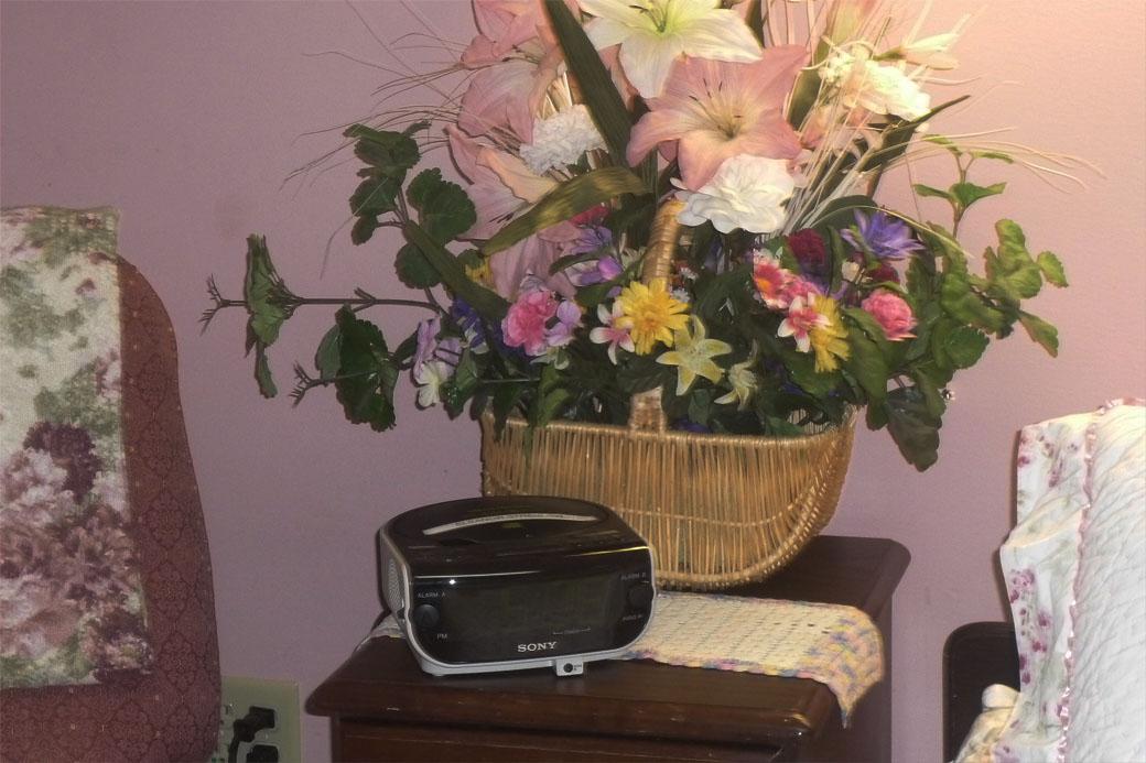 Silk Flower Gift Basket for Seniors