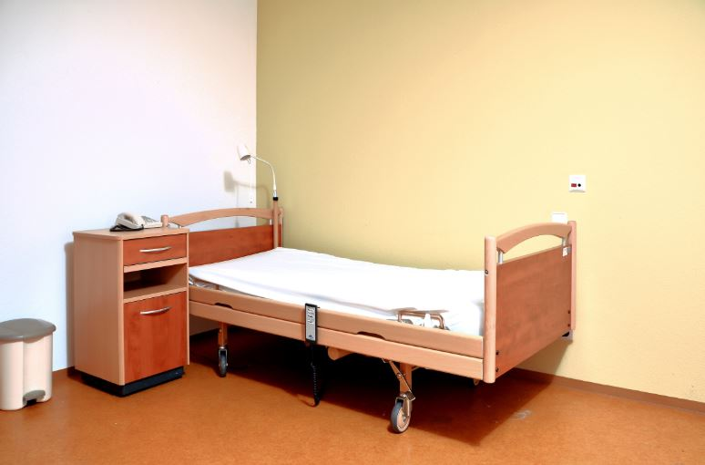 Nursing Home Room Before Decorating